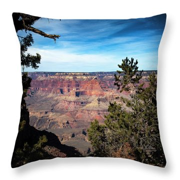 Grand Canyon, Arizona Usa Throw Pillow by James Bethanis