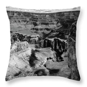 Grand Canyon Bw Throw Pillow by RicardMN Photography