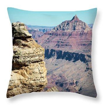 Grand Canyon Duck On A Rock Throw Pillow