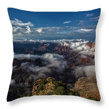 Grand Canyon Fog Throw Pillow