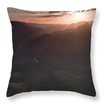 Grand Canyon Glow Throw Pillow