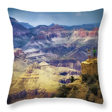 Grand Canyon Hello Throw Pillow by James Bethanis