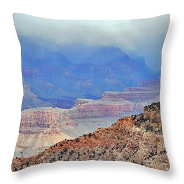 Grand Canyon Levels Throw Pillow