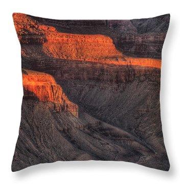 Grand Canyon Light Throw Pillow by Steve Gadomski