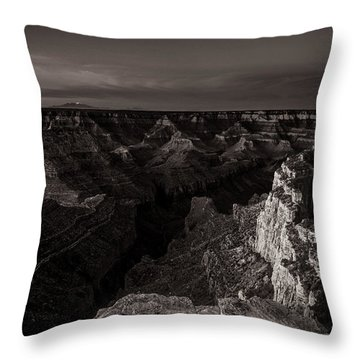Grand Canyon Monochrome Throw Pillow
