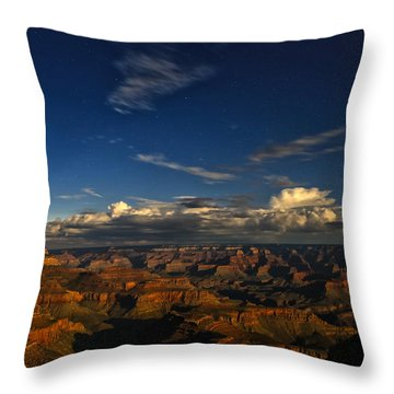 Grand Canyon Moonlight Throw Pillow