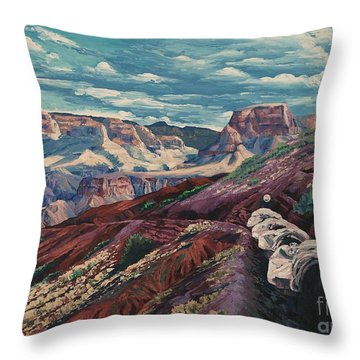 Grand Canyon Mule Skinners Throw Pillow