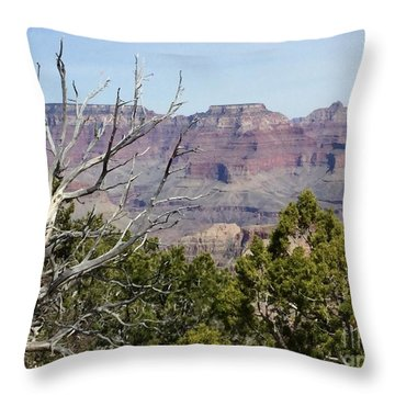 Grand Canyon National Park South Rim Throw Pillow by Patricia E Sundik