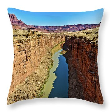 Grand Canyon National Park Colorado River Throw Pillow