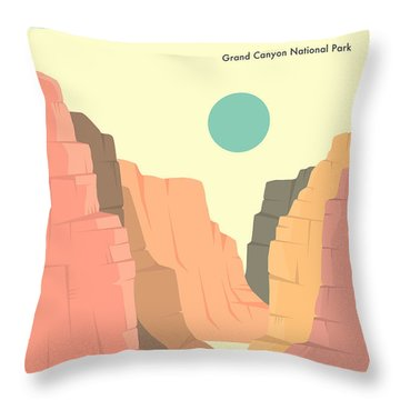 Grand Canyon National Park Throw Pillows