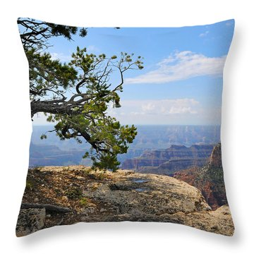 Grand Canyon North Rim Craggy Cliffs Throw Pillow