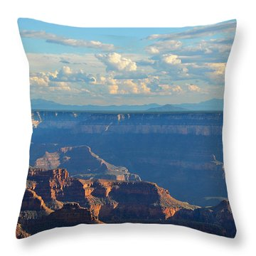 Grand Canyon North Rim Sunset San Francisco Peaks Throw Pillow