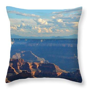 Grand Canyon North Rim Sunset San Francisco Peaks Throw Pillow