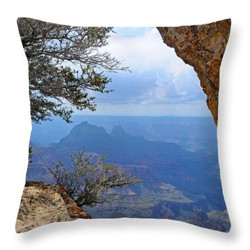 Grand Canyon North Rim Window In The Rock Throw Pillow