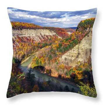Grand Canyon Of The East Throw Pillow by Mark Papke