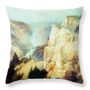Grand Canyon Of The Yellowstone Park Throw Pillow by Thomas Moran