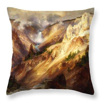 Grand Canyon Of The Yellowstone Throw Pillow by Thomas Moran