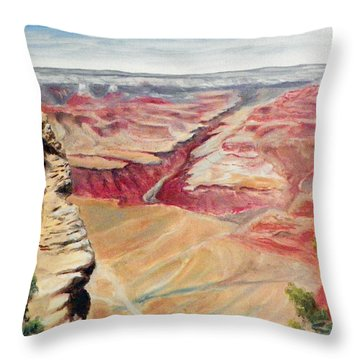Grand Canyon Overlook Throw Pillow by Sherril Porter