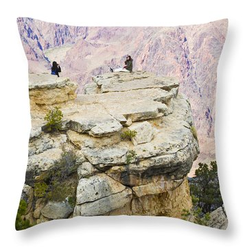 Throw Pillow featuring the photograph Grand Canyon Photo Op by Chris Dutton