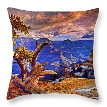 Grand Canyon Pine Throw Pillow by Dennis Cox WorldViews