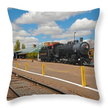 Grand Canyon Railway Throw Pillow