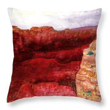 Grand Canyon S Rim Throw Pillow