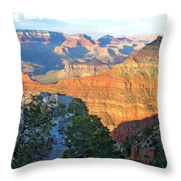 Grand Canyon South Rim At Sunset Throw Pillow