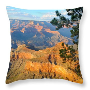 Grand Canyon South Rim - Pine At Right Throw Pillow
