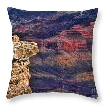 Grand Canyon Stacked Rock Throw Pillow