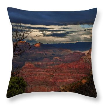 Grand Canyon Storm Clouds Throw Pillow