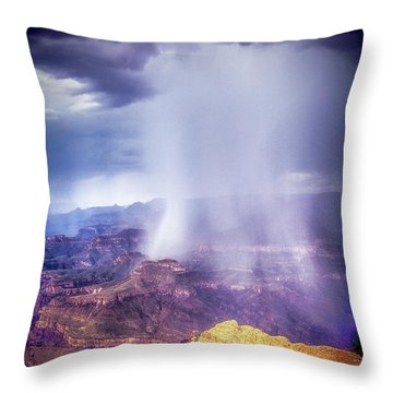 Grand Canyon Summer Storm Throw Pillow