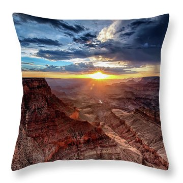 Grand Canyon Sunburst Throw Pillow