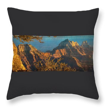 Grand Canyon Sunset Panorama Throw Pillow