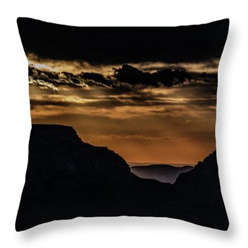 Throw Pillow featuring the photograph Grand Canyon Sunset by Phil Abrams