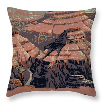 Grand Canyon Throw Pillow by Unknown
