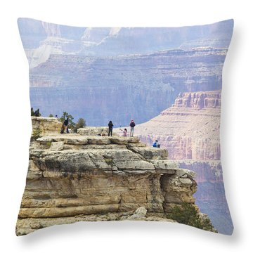 Throw Pillow featuring the photograph Grand Canyon Vista by Chris Dutton
