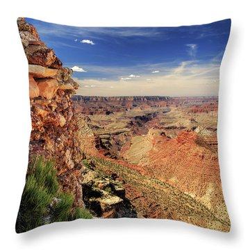 Grand Canyon Wall Throw Pillow