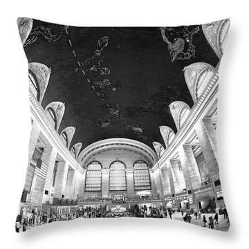 Throw Pillow featuring the photograph Grand Central Station by Mitch Cat