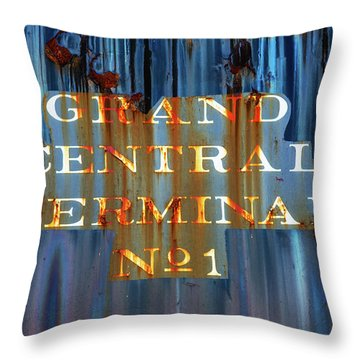 Throw Pillow featuring the photograph Grand Central Terminal No 1 by Karol Livote