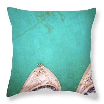 Grand Central Windows- By Linda Woods Throw Pillow