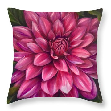 Grand Dahlia Throw Pillow