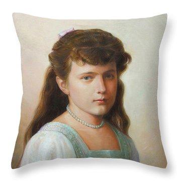 Grand Duchess Anastasia Nikolaevna Of Russia Throw Pillow by George Alexander