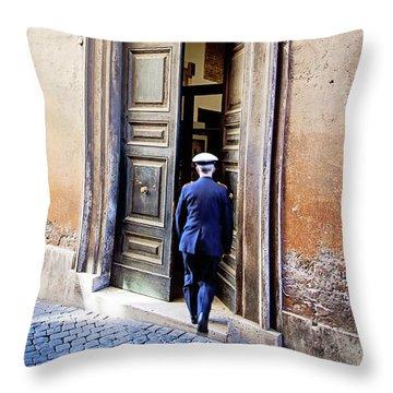 Grand Entrance - Rome, Italy Throw Pillow