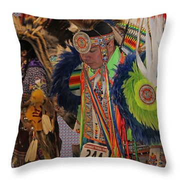 Grand Entry-3 Throw Pillow