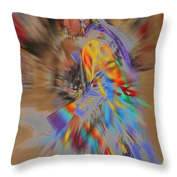 Grand Entry Moves Throw Pillow