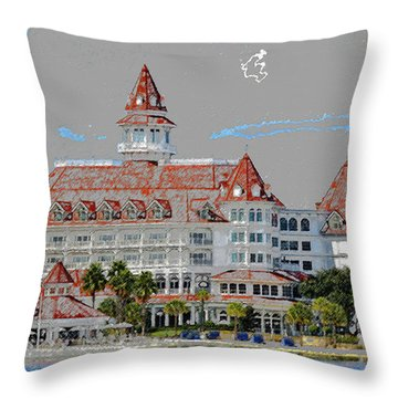 Grand Floridian In Summer Throw Pillow