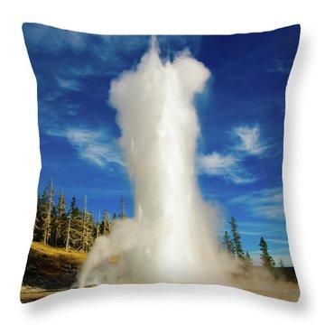 Grand Geyser Throw Pillow