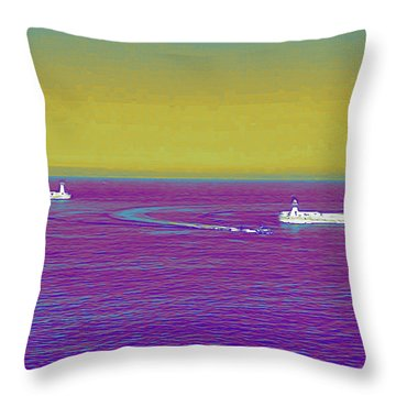 Purple Sea Throw Pillow