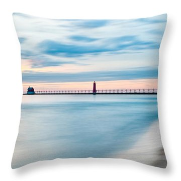 Grand Haven Pier - Smooth Waters Throw Pillow