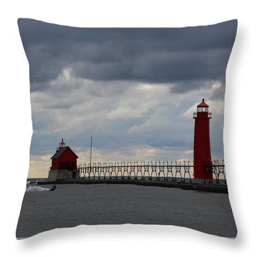 Grand Haven Wind Surfing Throw Pillow